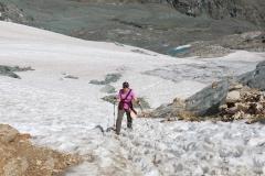 Schneefeld unterhalb der Britanniahütte