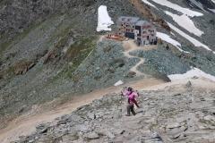 Zustieg Klein Allalin auf 3.069 m.ü.M.