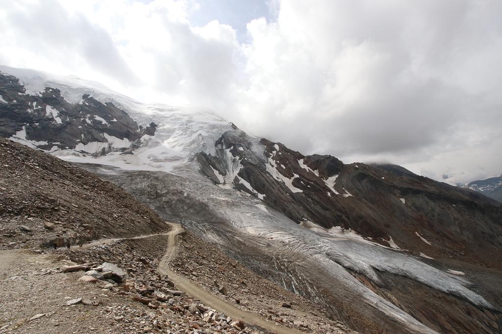 Aufstiegsroute zum Weissmies und Triftgletscher