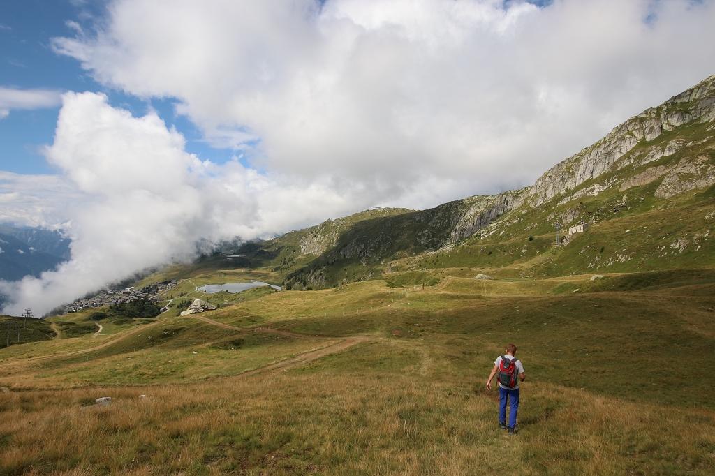 Wanderung von der Fiescheralp zum Aletschwald - Blick auf den Bettmersee