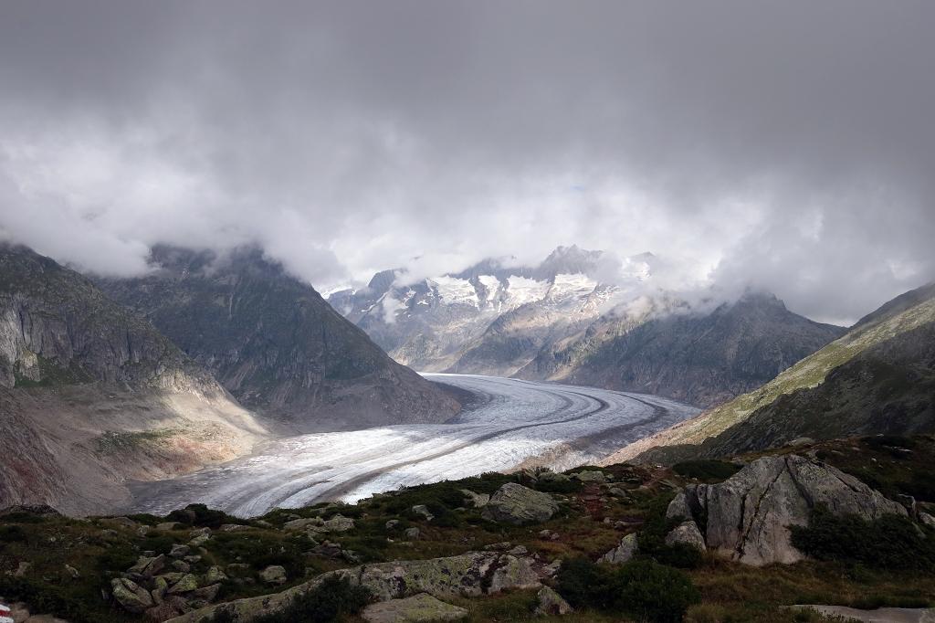 Erster Blick auf den Aletschgletscher