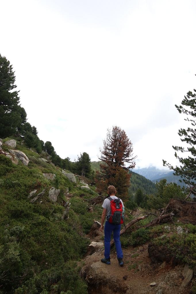 Erdrutsch am Oberen Aletschweg - Achtung, nicht mehr begehen, da gesperrt