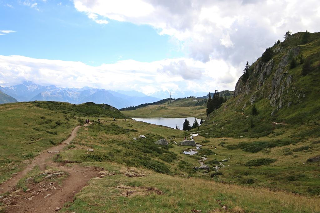 Noch einmal steil bergauf Richtung Fiescheralp