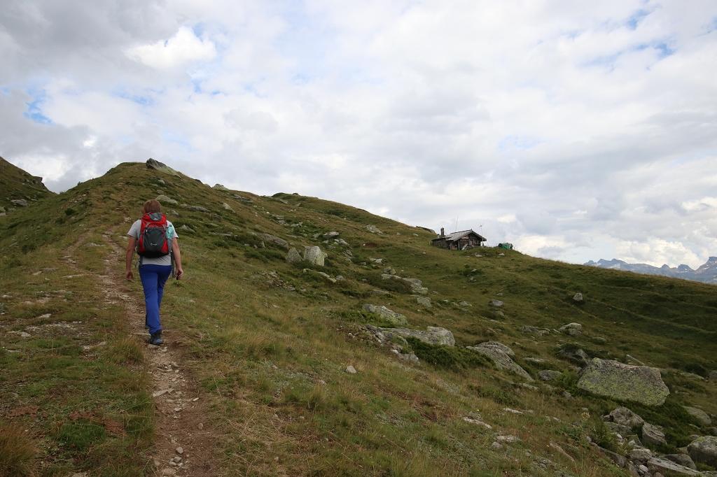 Finaler Anstieg vom Schonbodensee zur Fiescheralp