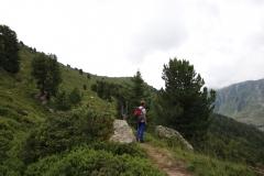 Ganz allein unterwegs auf dem Oberen Aletschweg