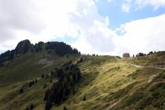Blick zurück auf das Pro Natura Zentrum Aletsch in der Villa Cassel