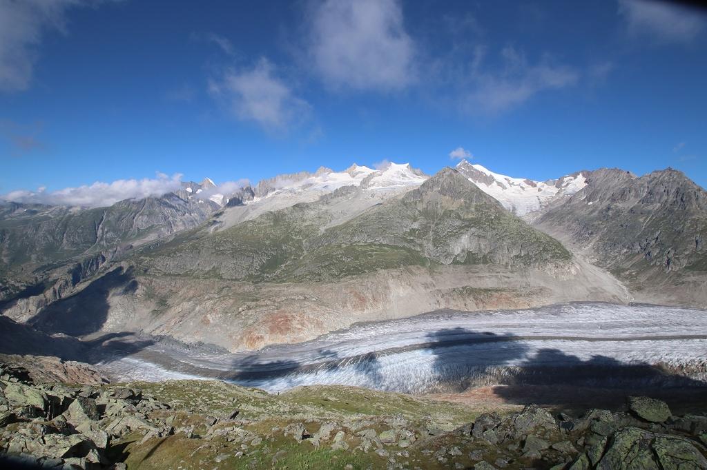 Blick aufs Aletschhorn und Dreieckshorn