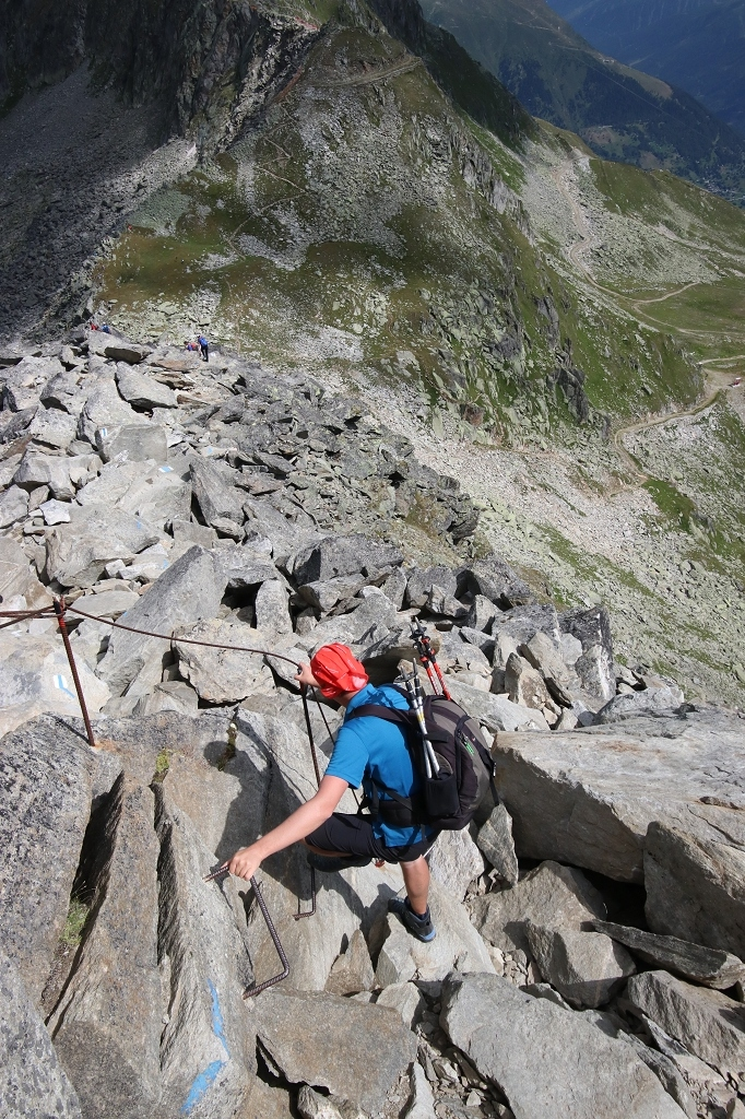 UNESCO Höhenweg vom Bettmerhorn über den Bettmergrat zum Eggishorn - Abstieg zur Elselicka