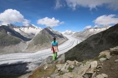 Ein letztes Mal der beeindruckende Aletschgletscher