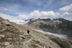 Weg zum Aussichtspunkt auf den Rhonegletscher