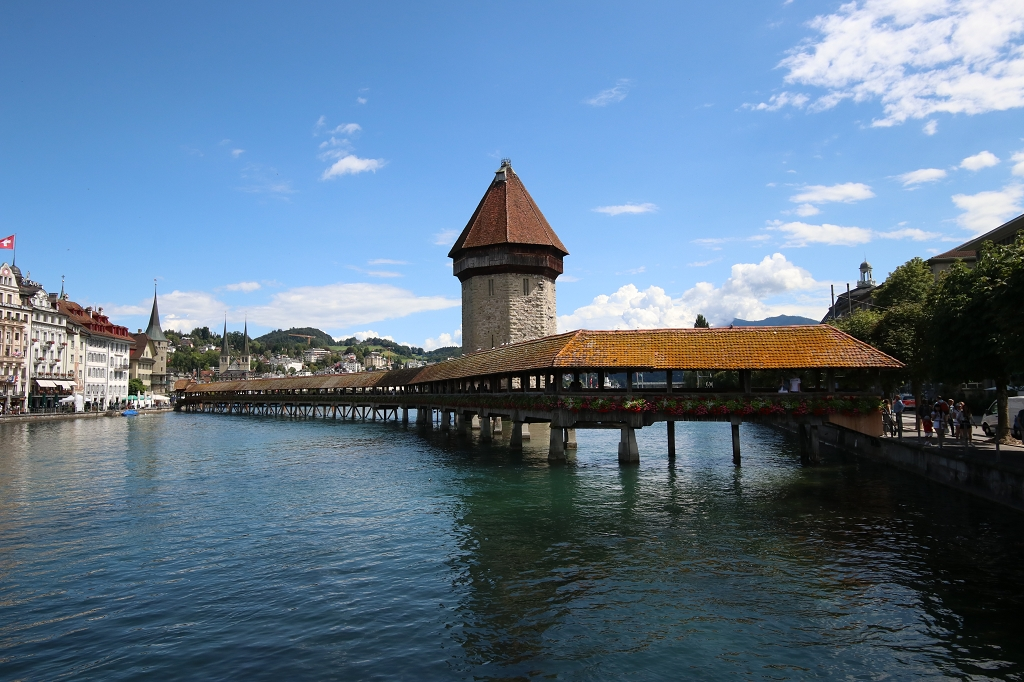 Kapellbrücke und Wasserturm vom Rathaussteg