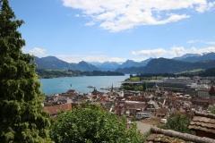 Blick auf den Vierwaldstättersee und Luzern