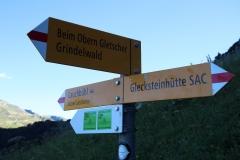 Wetterhorntrek: Von der Glecksteinhütte zur Schwarzwaldalp - Abzweig Lauchbühl