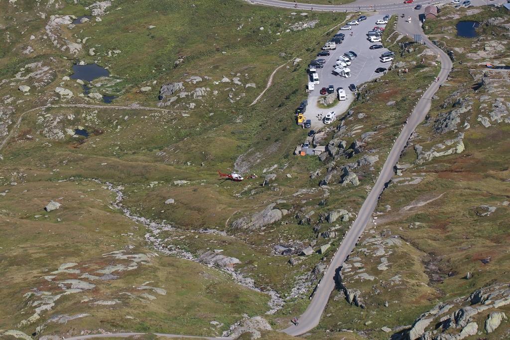 Wanderung vom Grimselpass zum Sidelhorn - Hubschrauber am Grimselpass