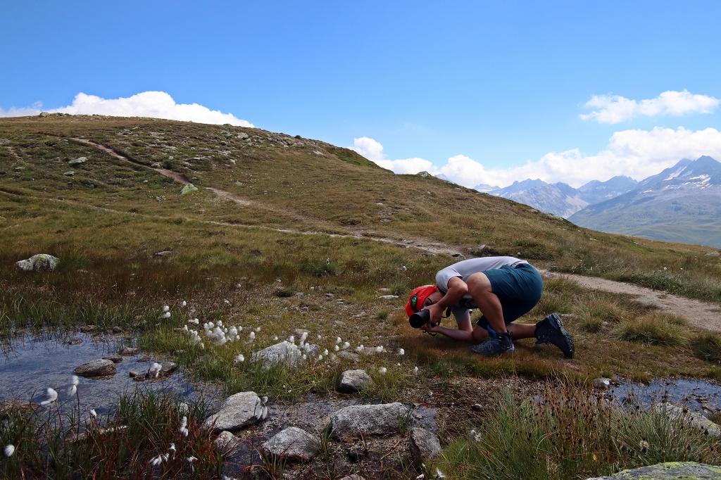 Wanderung vom Grimselpass zum Sidelhorn - Achtung, Fotograf in Action