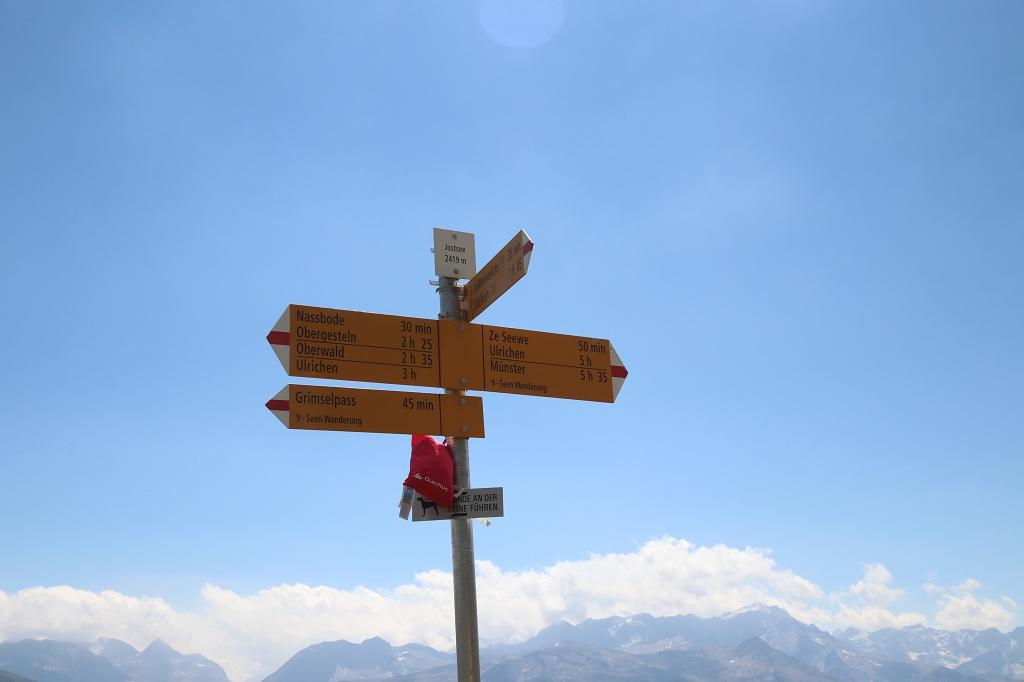 Wanderung vom Grimselpass zum Sidelhorn - Ankunft am Jostsee