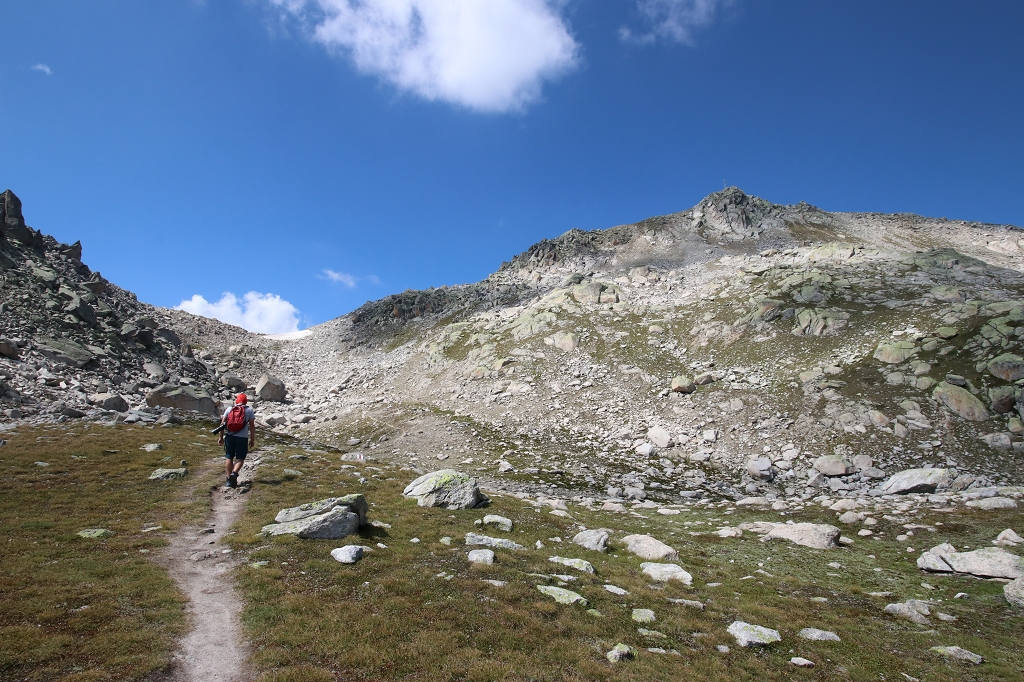Wanderung vom Grimselpass zum Sidelhorn - Blick auf die Triebtenseelicke