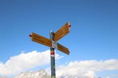 Wanderung vom Grimselpass zum Sidelhorn - Abzweig Husegghütte auf 2.450 m.ü.M