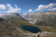 Lauteraarhorn (4.042m), Schreckhorn (4.078m) und im Vordergrund der Triebtenseewli