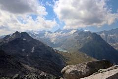 Wanderung vom Grimselpass zum Sidelhorn - Blick auf die Berner Alpen