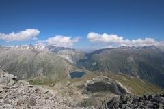 Wanderung vom Grimselpass zum Sidelhorn - Postkartenblick vom Gipfel