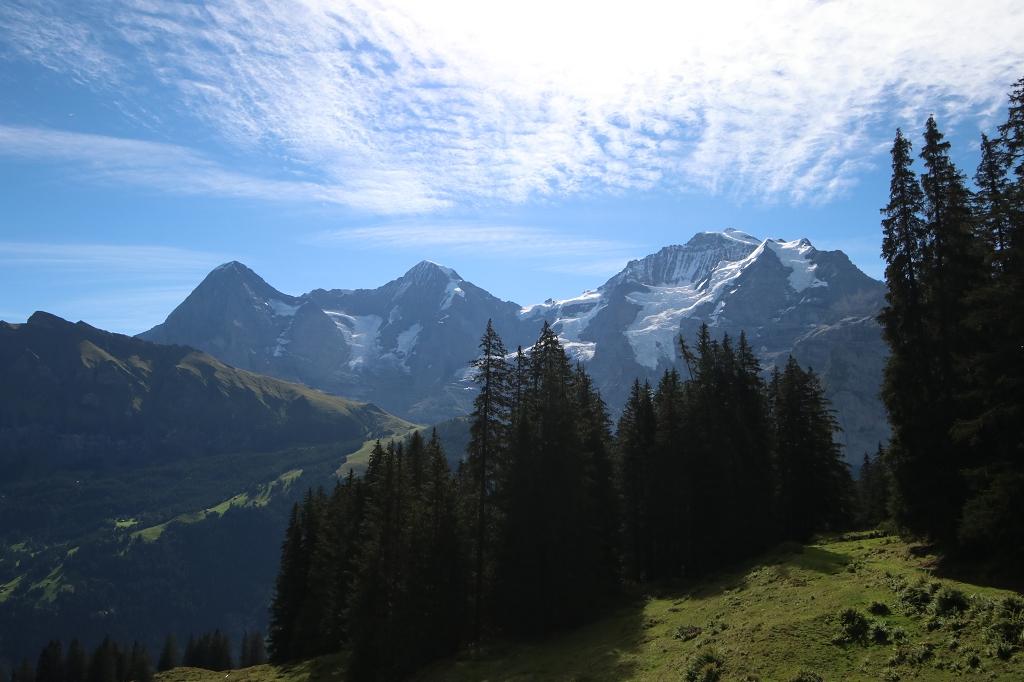 Mountain View Trail von der Grütschalp nach Mürren - Eiger, Mönch und Jungfrau