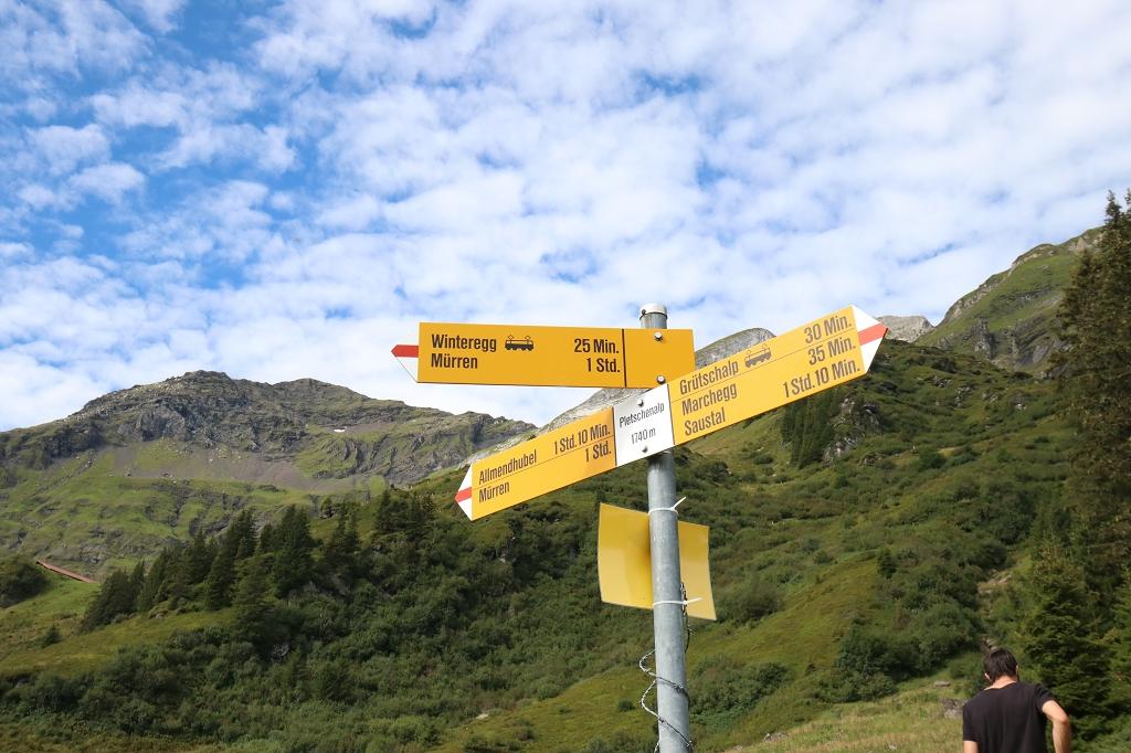 Mountain View Trail von der Grütschalp nach Mürren - Pletschenalp