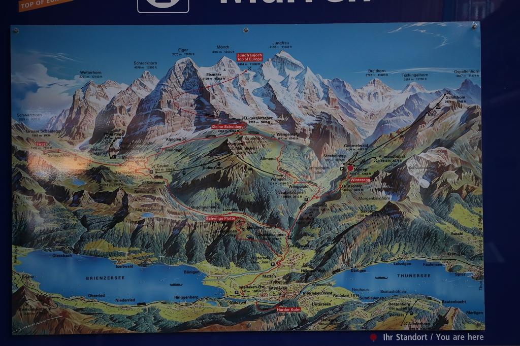 Übersichtskarte Berner Alpen