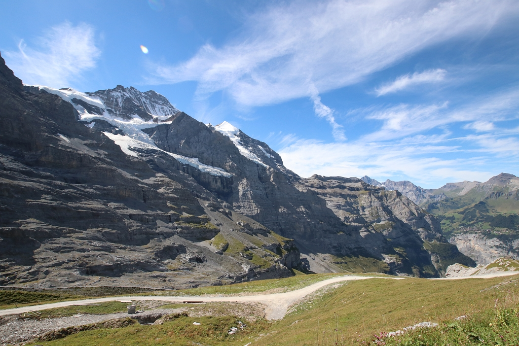 Bergkulisse auf dem Eiger Trail