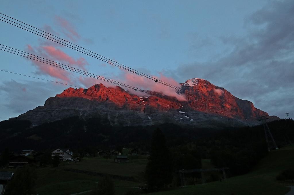 Eiger im Sonnenuntergang