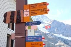 Start der Wanderung entlang des Eiger Trails