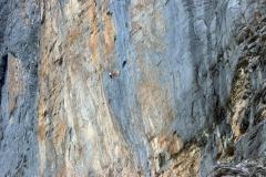 Kletterer in der Nord-Ost-Wand des Eigers
