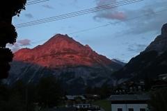Abendglühen in den Alpen