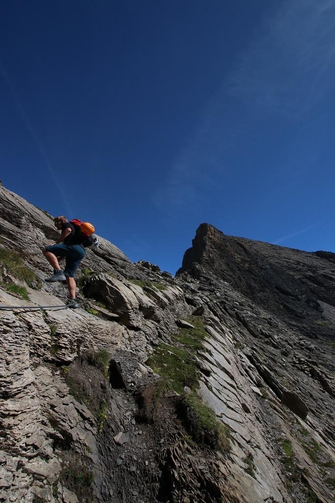 Einstieg zum Schwarzhorn-Klettersteig
