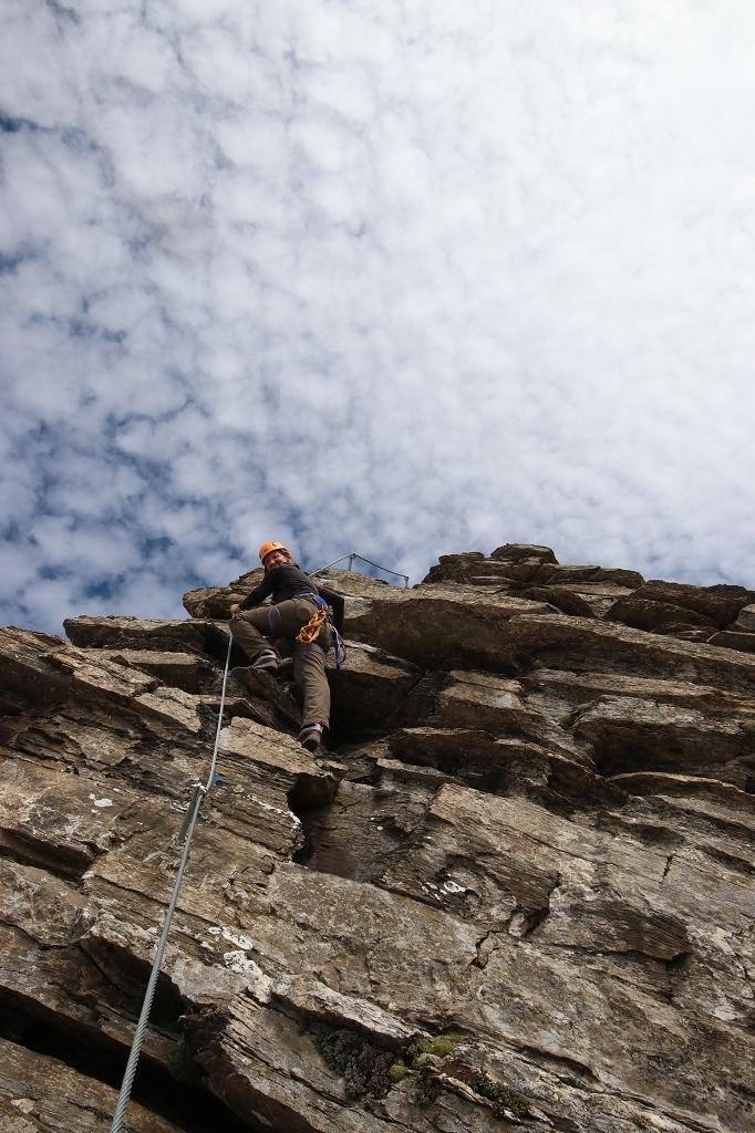 Klettersteig auf das Schwarzhorn - Letzte Steilpassage