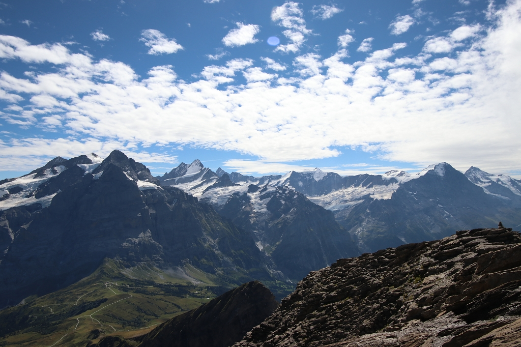 Blick vom Gipfel des Schwarzhorns