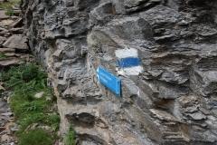 Abzweig zum Schwarzhorn-Klettersteig