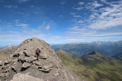 Weg zum Gipfel des Schwarzhorns