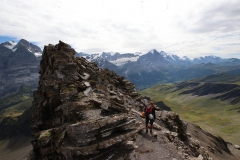 Abstieg vom Schwarzhorn über die Normalroute