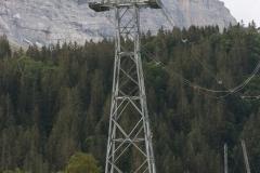 Helikopter bei der Arbeit an der V-Bahn in Grindelwald