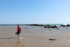 Am Strand in der Nähe der Scala dei Turchi