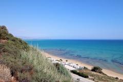 Blick auf den Strand oberhalb des Case Vacanze Bellavista Sizilien