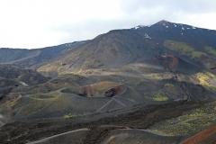 Blick auf die Gipfelkrater vom Monte Silvestri Superiore