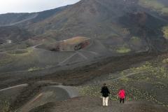 Abstieg vom Gestein am Monte Silvestri Superiore