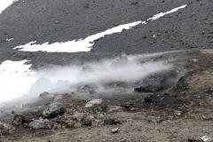 heißer Wasserdampf am Cratere Piano del Lago