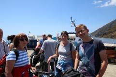 Warten auf das Tragflügelboot auf Stromboli