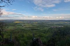 Aussicht am Adlerbogen auf dem Donnersberg